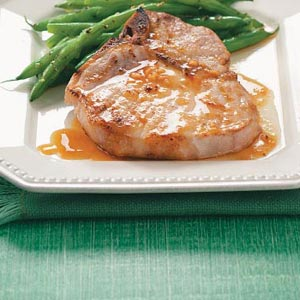 porkchops and orange sauce