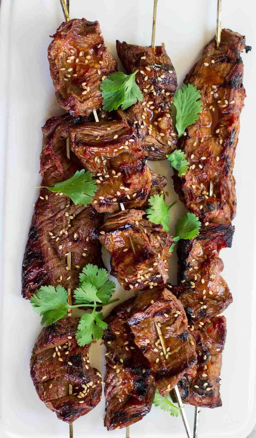korean beef skewers