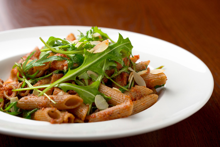 Whole-Grain-Penne-Pasta-with-Greens-Beans