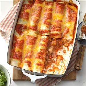 SIMPLE CHICKEN ENCHILADAS RECIPE