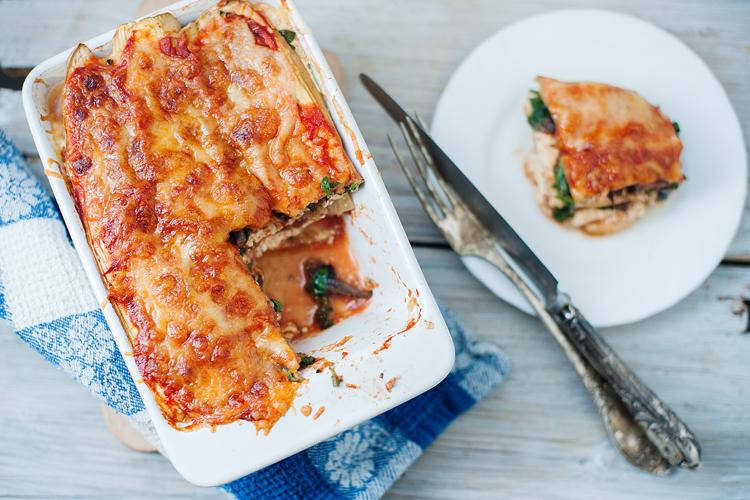 Slow Cooker Eggplant Lasagna